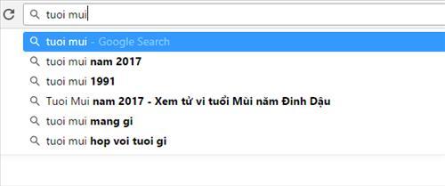 Gợi ý từ khóa của Google Search