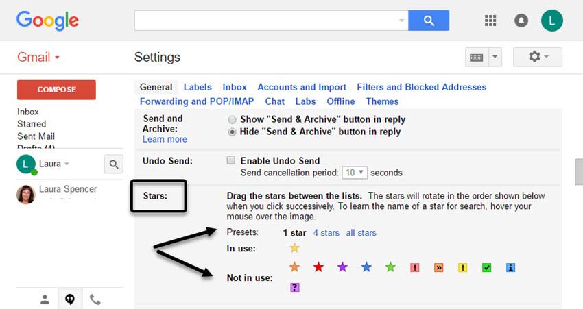 Gmail Star Setting Trick