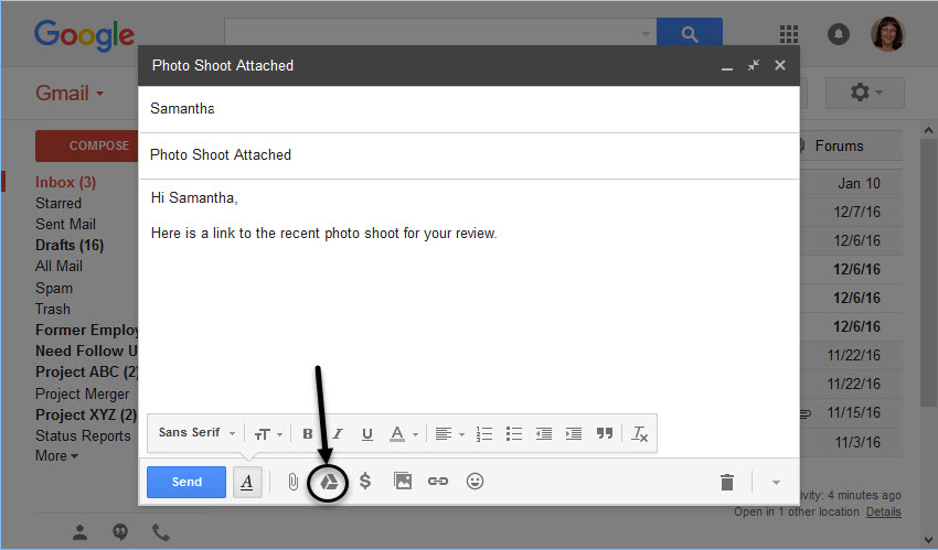 Send Large Files in Gmail with Google Drive