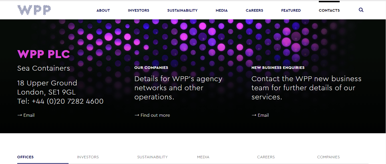 Website của WPP Group