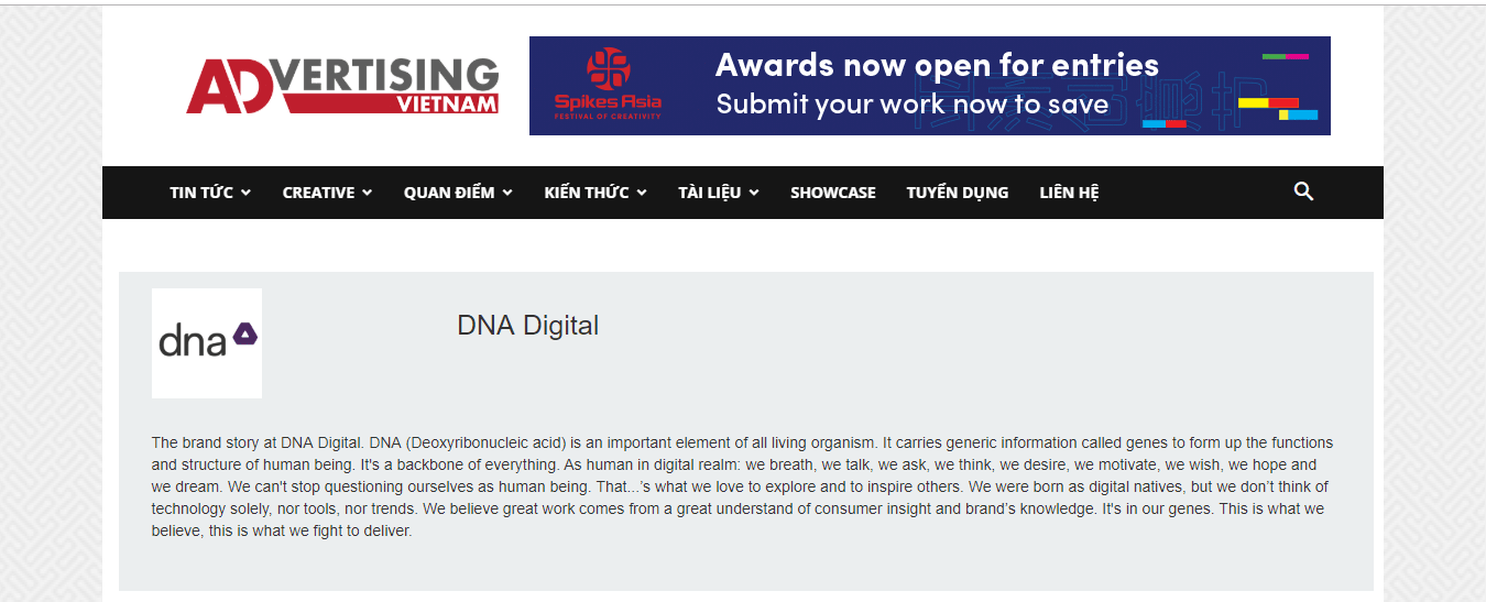 Website của DNA Digital