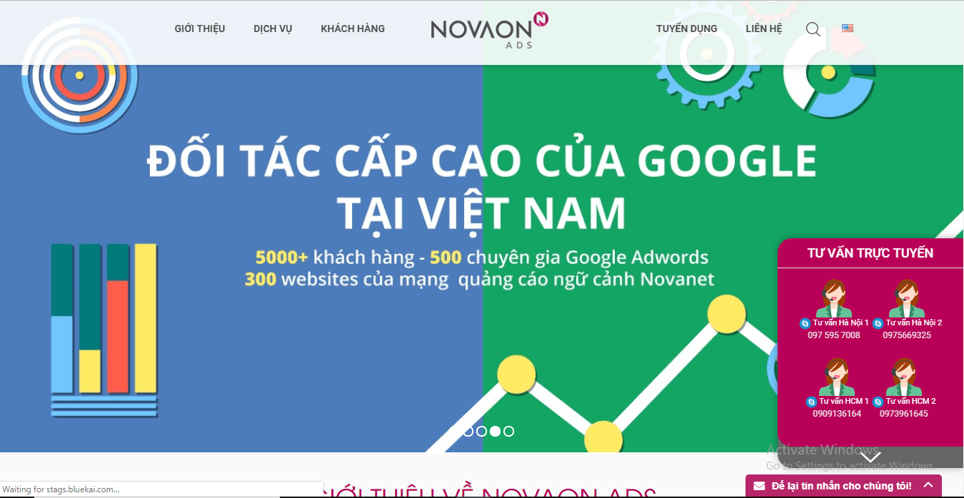 Website của Nova Ads