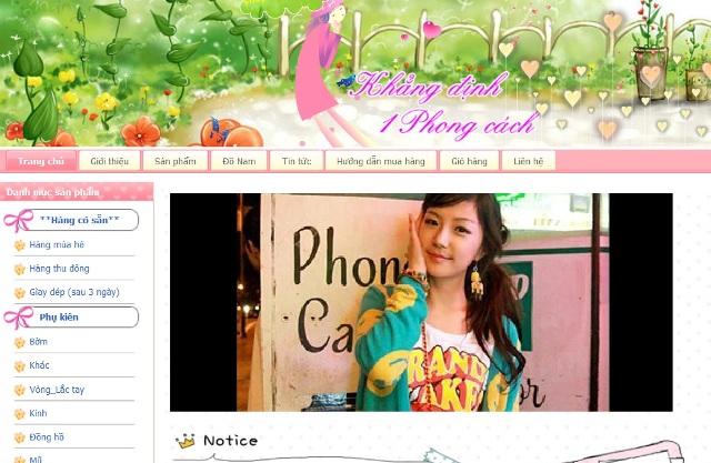 mau thiet ke web shop online