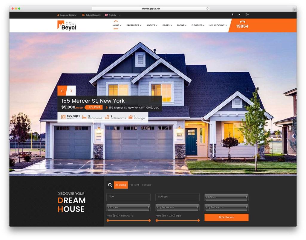 Kho giao diện web bất động sản đẹp chuẩn SEO nhất năm 2018