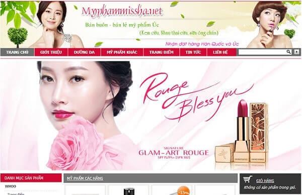 Thiết kế website mỹ phẩm giúp dễ dàng bán hàng hơn